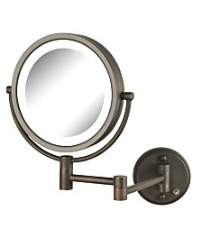 "The Jerdon HL88BZL 8.5"" LED Lighted Wall Mount Makeup Mirror"