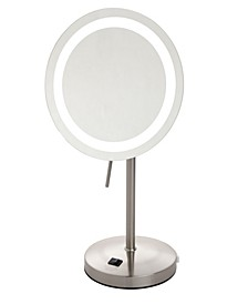 "The Sharper Image JRT950NL 8.5"" LED Lighted Table Top Mirror"