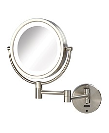 "The Sharper Image JRT9500NL 8.5"" LED Lighted Wall Mount Mirror with Sensor"