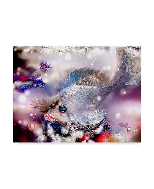 "Trademark Global RUNA 'Sad Fish' Canvas Art - 47"" x 35"" x 2"""