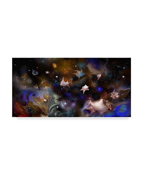 "Trademark Global RUNA 'Underwater 12' Canvas Art - 47"" x 24"" x 2"""