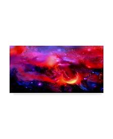 "RUNA 'Cosmic Red Star' Canvas Art - 32"" x 16"" x 2"""
