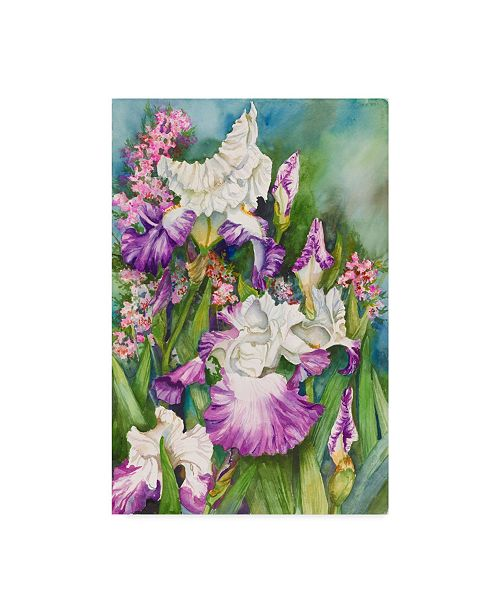 "Trademark Global Joanne Porter 'Iris Garden' Canvas Art - 24"" x 16"" x 2"""