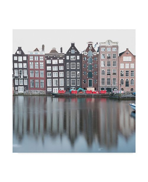 "Trademark Global Moises Levy 'Amsterdam Canal Cityscape' Canvas Art - 18"" x 18"" x 2"""