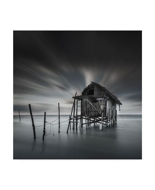 """Trademark Global Moises Levy 'My Home At Sea' Canvas Art - 35"""" x 35"""" x 2"""""""