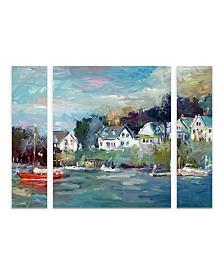 "Richard Wallich 'Dock' Multi Panel Art Set Large - 30"" x 41"" x 2"""