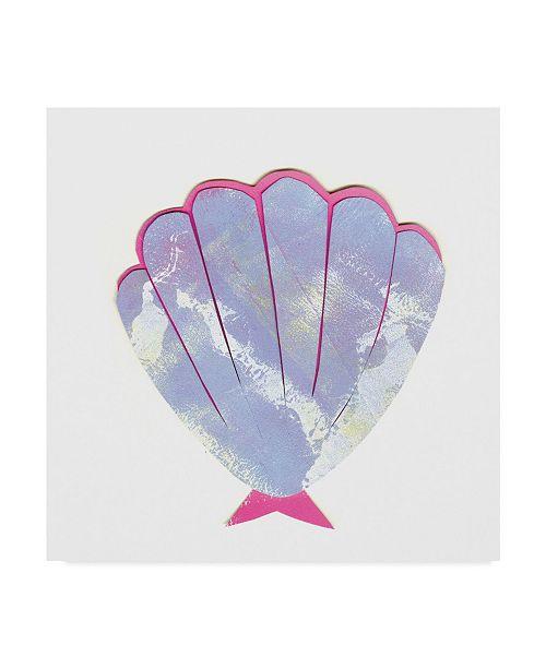 "Trademark Global Summer Tali Hilty 'Seashell Purple' Canvas Art - 35"" x 35"" x 2"""