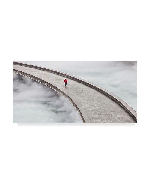 "Trademark Global Mikel Arrizabalaga 'Walking Over The Clouds' Canvas Art - 32"" x 2"" x 16"""