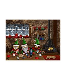 """Jake Hose 'The Nutcracker Elves' Canvas Art - 24"""" x 18"""" x 2"""""""