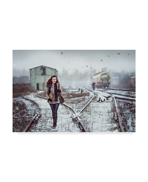 "Trademark Global Sergey Parishkov 'Holy Way' Canvas Art - 32"" x 2"" x 22"""