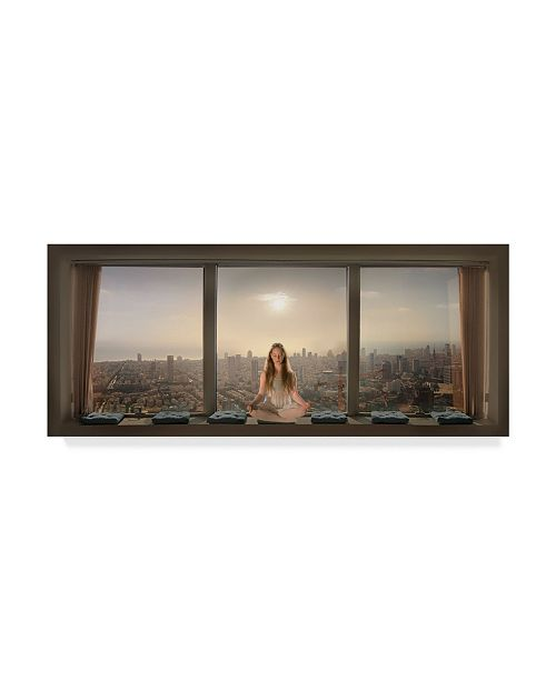 "Trademark Global Nadav Jonas 'Urban Serenity' Canvas Art - 24"" x 10"" x 2"""