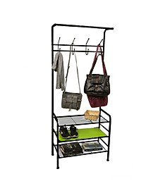 Metal Coat, Shoe Rack, Purses, Scarf, Shelving Organizer