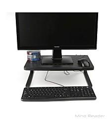 Mind Reader Exra Wide Monitor Stand Riser for Computer, Laptop, Desk, iMac