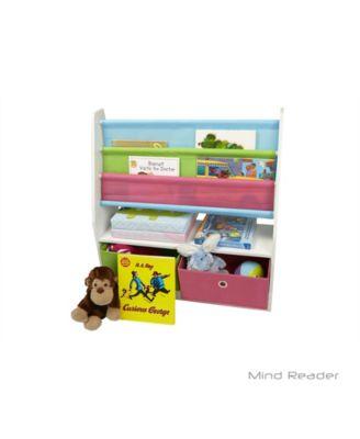 ... Mind Reader Toy Storage Organizer Kids Book Organizer With Folding  Drawers For Toddler Toys ...