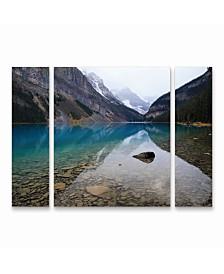 """Pierre Leclerc 'Lake Louise' Multi Panel Art Set Large 3 Piece - 44"""" x 34"""" x 2"""""""