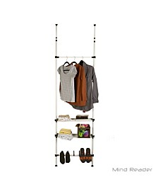 Mind Reader 2 Bars and 2 Shelves Garment and Shoes Rack