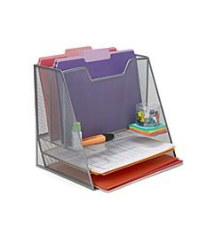 Mesh Desk Organizer 5 Trays Desktop Document Letter Tray for Folders, Mail, Stationary, Desk Accessories