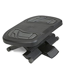 Adjustable Height Under Desk Non-Slip Ergonomic Foot Rest with Foot Prints