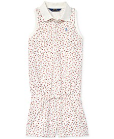 Polo Ralph Lauren Big Girls Floral Mesh Polo Romper
