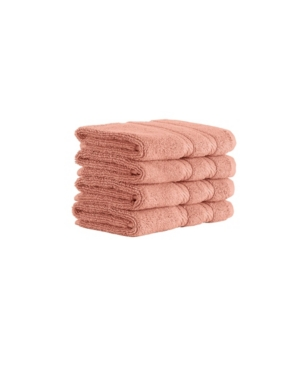 Classic Turkish Towels Antalya 4 Piece Luxury Turkish Cotton Washcloth Towel Set Bedding