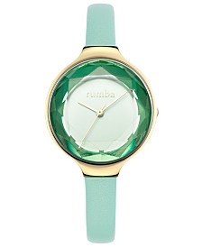 RumbaTime Orchard Gem with Genuine Leather Strap Watch