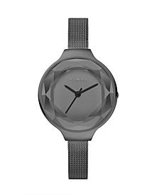 Orchard Gem Mesh Diamond Watch Stainless Steel