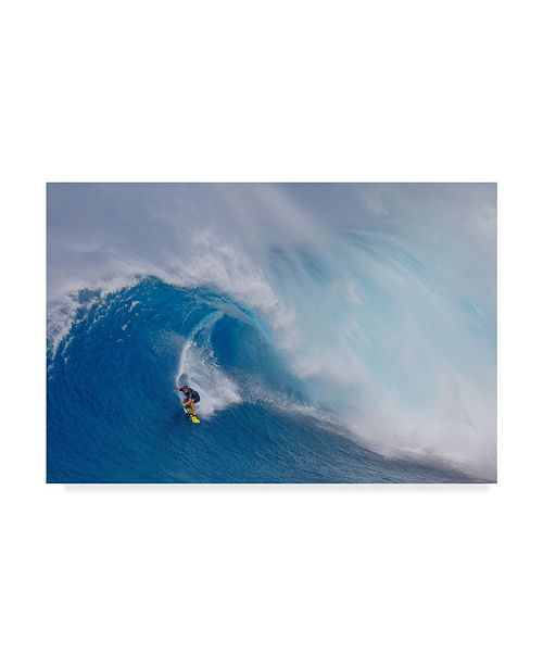 """Trademark Global Peter Stahl 'Surfing Jaws' Canvas Art - 32"""" x 2"""" x 22"""""""