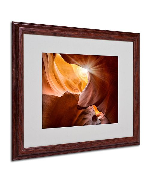 "Trademark Global Moises Levy 'Searching Light III' Matted Framed Art - 16"" x 20"" x 0.5"""