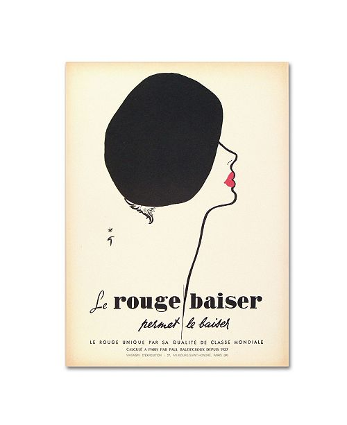 "Trademark Global Vintage Apple Collection 'Le Rouge Baiser' Canvas Art - 35"" x 47"" x 2"""