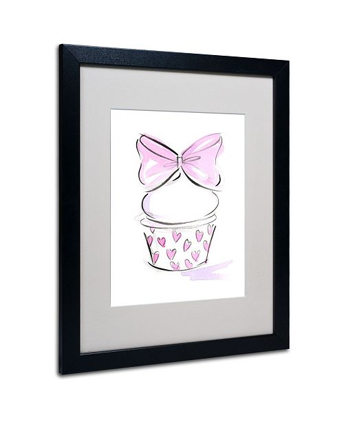 "Trademark Global Jennifer Lilya 'Cupcake 6' Matted Framed Art - 20"" x 16"" x 0.5"""