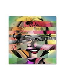 "Mark Ashkenazi 'Marilyn Monroe V' Canvas Art - 14"" x 14"" x 2"""