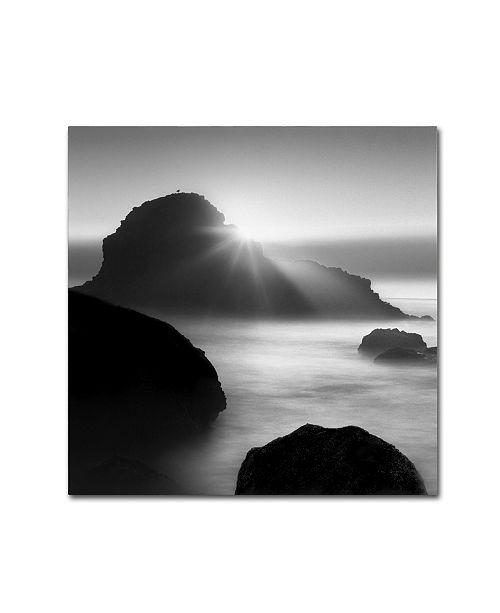 "Trademark Global Moises Levy 'Long Sunset at Indian Beach' Canvas Art - 14"" x 14"" x 2"""