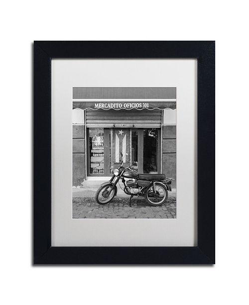 "Trademark Global Moises Levy 'Mercadito Oficios' Matted Framed Art - 11"" x 14"" x 0.5"""