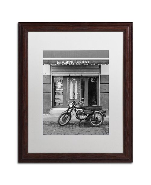 "Trademark Global Moises Levy 'Mercadito Oficios' Matted Framed Art - 20"" x 16"" x 0.5"""