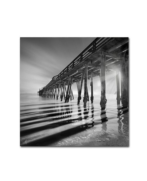 """Trademark Global Moises Levy 'Pier and Shadows' Canvas Art - 35"""" x 35"""" x 2"""""""