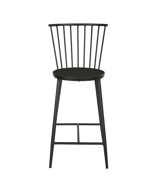 Office Star Bryce Counter Stool 26-inch with Metal Frame