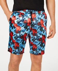 I.N.C. Men's Floral Track Shorts, Created for Macy's