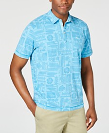 Tommy Bahama Men's Lido Beach Club Tropical-Print Pima Cotton Polo