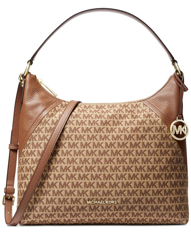 Michael Kors Aria Jacquard Signature Shoulder Bag