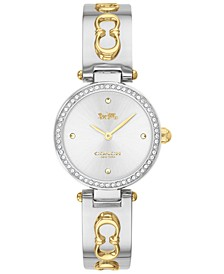 Women's Park Two-Tone Stainless Steel Bangle Bracelet Watch 26mm