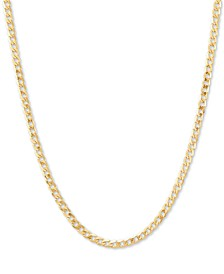 "Fine Curb Link 18"" Chain Necklace in 14k Gold"