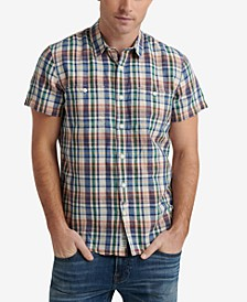 Men's Woven Plaid Shirt