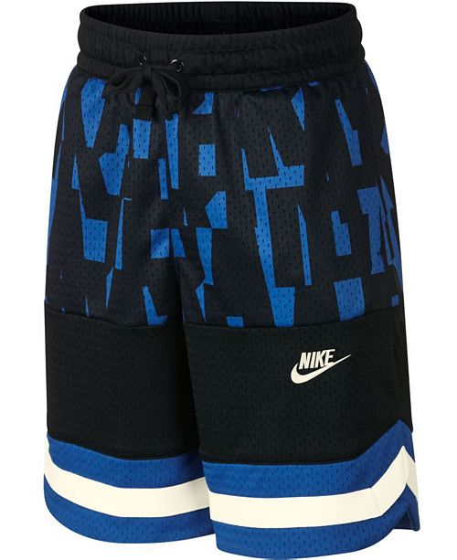 Nike Big Boys Nike Air Colorblocked Mesh Logo Shorts