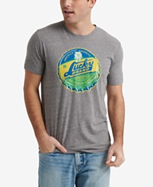 Lucky Brand Men's 90's Bottle Cap Graphic T-Shirt