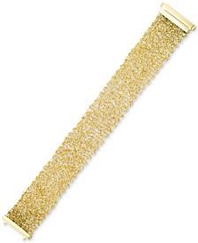 Mesh Vermeil Bracelet in 14k Gold Over Sterling Silver
