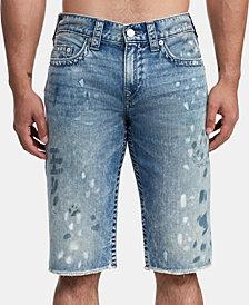 True Religion Men's Distressed Denim Shorts