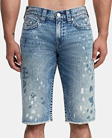 True Religion Men's Distressed Denim Shorts
