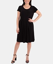 48c1ff67be NY Collection Pleated Seam-Detail Dress