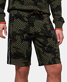 Men's Textured Camo Shorts