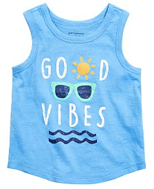 First Impressions Baby Boys Vibes-Print Cotton Tank Top, Created for Macy's